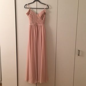 Sorella Vita blush bridesmaids dress